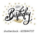 happy birthday.beautiful...   Shutterstock .eps vector #635844737