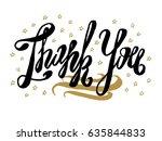 thank you card. beautiful...   Shutterstock .eps vector #635844833