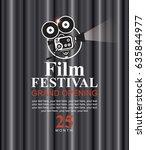 vector film festival poster... | Shutterstock .eps vector #635844977