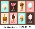 set of brochures with sweets....