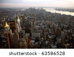 aerial view of  manhattan in... | Shutterstock . vector #63586528