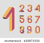 first. impossible shape numbers.... | Shutterstock .eps vector #635871533