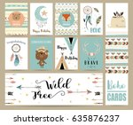cute cards for banners flyers... | Shutterstock .eps vector #635876237