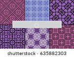 set of color geometric ornament....