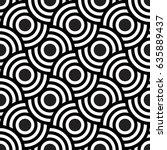 vector seamless pattern. modern ... | Shutterstock .eps vector #635889437