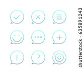 outline icons set. vector thin...