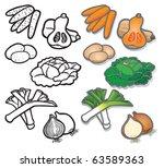 winter vegetable icons 1 vector ... | Shutterstock .eps vector #63589363