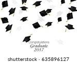 congrats graduates. graduate... | Shutterstock . vector #635896127