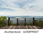 fog covering the mountain... | Shutterstock . vector #635899007