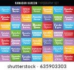 ramadan kareem. text design ... | Shutterstock .eps vector #635903303