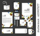 creative templates for office... | Shutterstock .eps vector #635907077