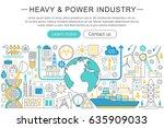 modern line flat design heavy... | Shutterstock . vector #635909033