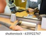 people  withdrawal  money ... | Shutterstock . vector #635922767