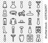 dress icons set. set of 25... | Shutterstock .eps vector #635926097