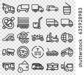 truck icons set. set of 25... | Shutterstock .eps vector #635928983