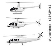 vector helicopter. set | Shutterstock .eps vector #635929463