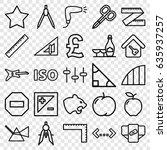Geometric Icons Set. Set Of 25...