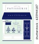 patisserie  pastry shop... | Shutterstock .eps vector #635944187
