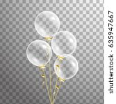 bunch of transparent balloons... | Shutterstock .eps vector #635947667
