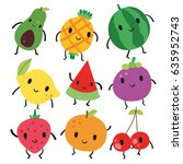 fruit character design | Shutterstock .eps vector #635952743