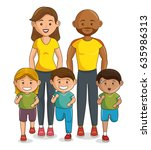 sports family characters icon | Shutterstock .eps vector #635986313