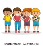 small group of athletes | Shutterstock .eps vector #635986343