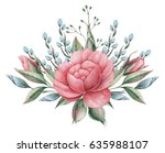 hand painted watercolor... | Shutterstock . vector #635988107
