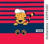 cute baby tiger cartoon  t...