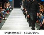 defile on fashion show  | Shutterstock . vector #636001043