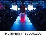 empty runway before fashion... | Shutterstock . vector #636001103
