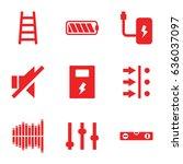 level icons set. set of 9 level ... | Shutterstock .eps vector #636037097
