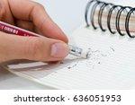 pencil eraser  pencil eraser... | Shutterstock . vector #636051953