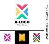 letter x logo design concept...   Shutterstock .eps vector #636057713