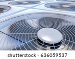 close up view on hvac units ... | Shutterstock . vector #636059537