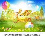 summer. | Shutterstock .eps vector #636073817
