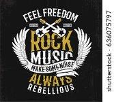 rock music concept vector... | Shutterstock .eps vector #636075797