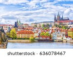 view of the prague castle and...   Shutterstock . vector #636078467