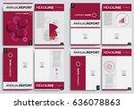 set brochure layout design... | Shutterstock .eps vector #636078863