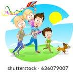 vector cartoon illustration of... | Shutterstock .eps vector #636079007