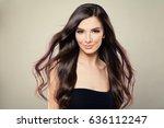 young hispanic fashion model... | Shutterstock . vector #636112247