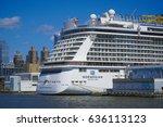 big norwegian cruise ship in... | Shutterstock . vector #636113123
