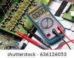 repair electronic circuit board ... | Shutterstock . vector #636126053