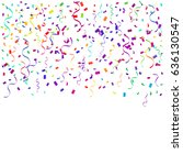 colorful confetti falling on... | Shutterstock .eps vector #636130547