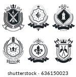 vintage vector design elements. ...   Shutterstock .eps vector #636150023