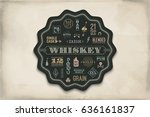 coaster for whiskey and alcohol ... | Shutterstock .eps vector #636161837
