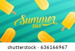 summer sale design layout for... | Shutterstock .eps vector #636166967