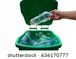 Green Bin Are Full With Clear...