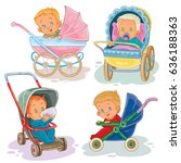 set of clip art illustrations... | Shutterstock . vector #636188363