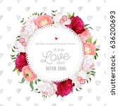 Hand Drawn Heart Pattern With...