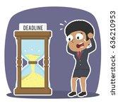 african businesswoman in panic... | Shutterstock .eps vector #636210953